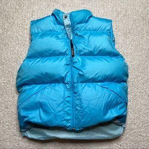 L.L. Bean blue large puffer vest